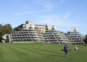 The iconic Ziggurats at UEA.